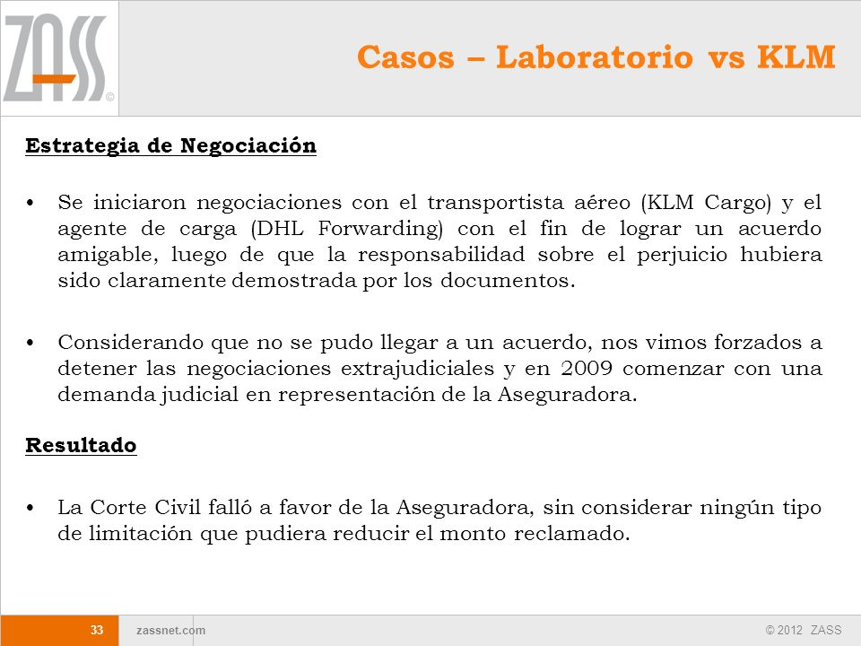 Casos – Laboratorio vs KLM