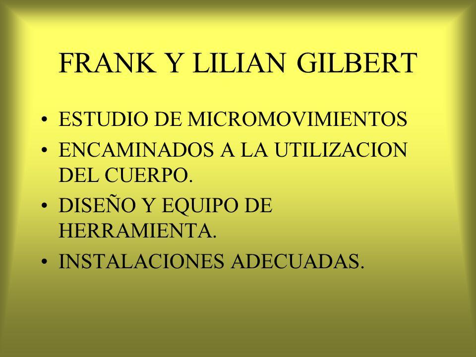FRANK Y LILIAN GILBERT ESTUDIO DE MICROMOVIMIENTOS