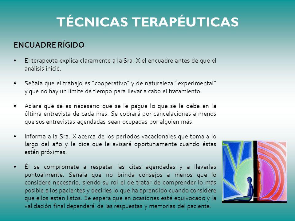 TÉCNICAS TERAPÉUTICAS