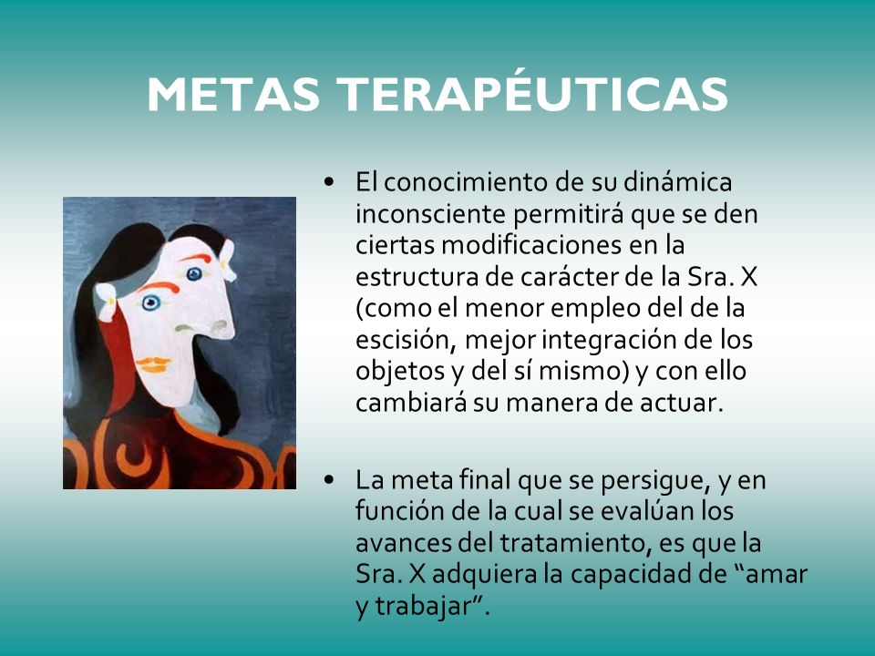 METAS TERAPÉUTICAS