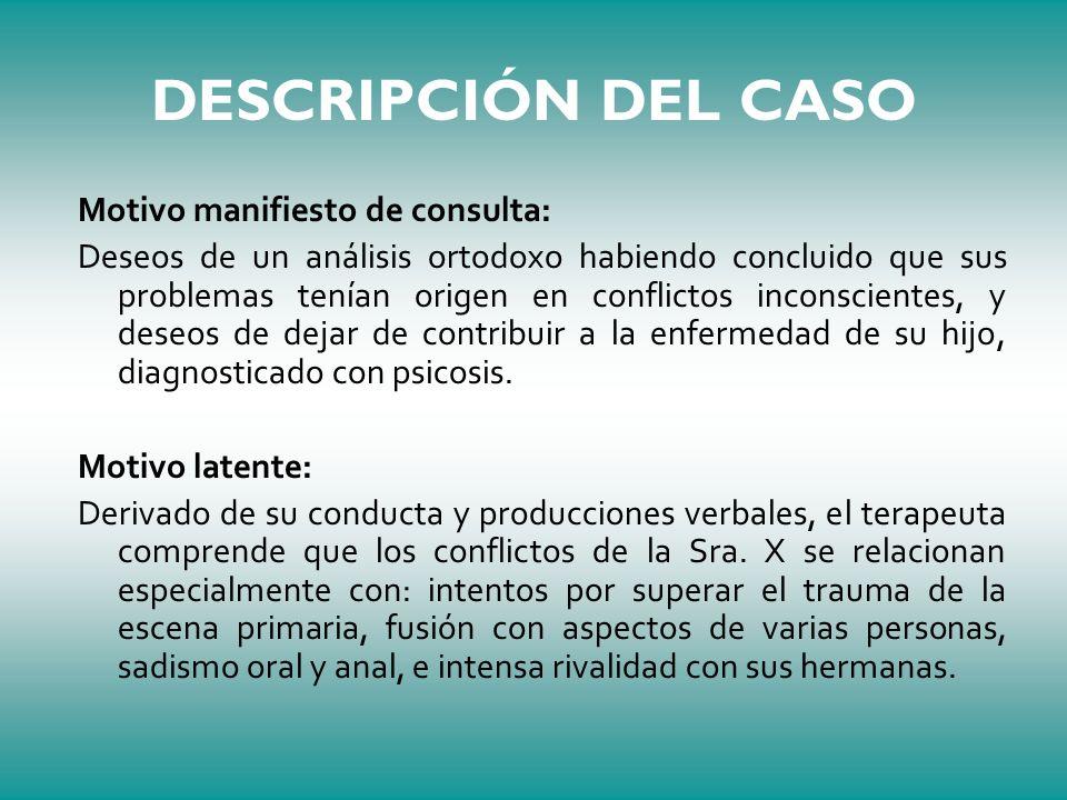 DESCRIPCIÓN DEL CASO Motivo manifiesto de consulta: