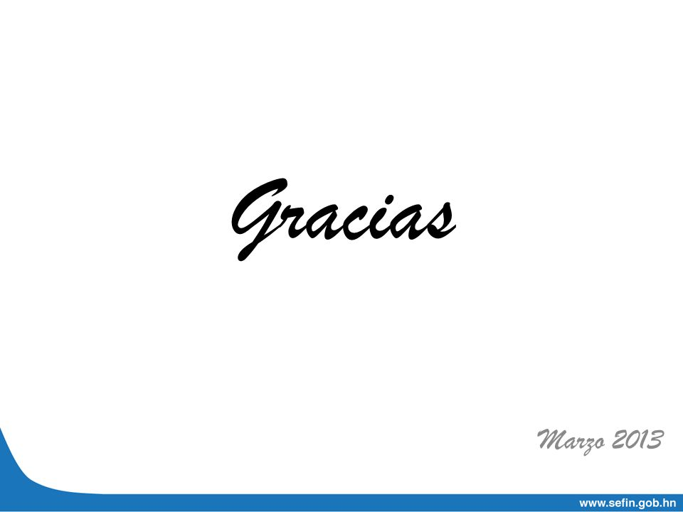 Gracias Marzo 2013