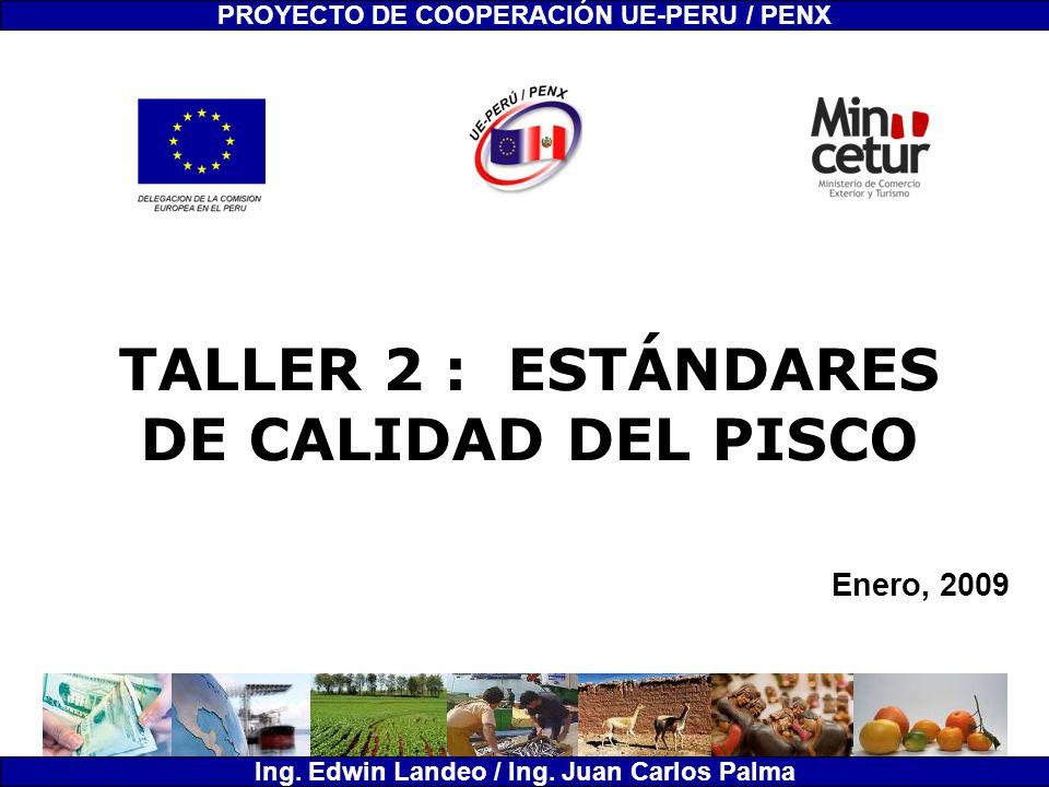 TALLER 2 : ESTÁNDARES DE CALIDAD DEL PISCO