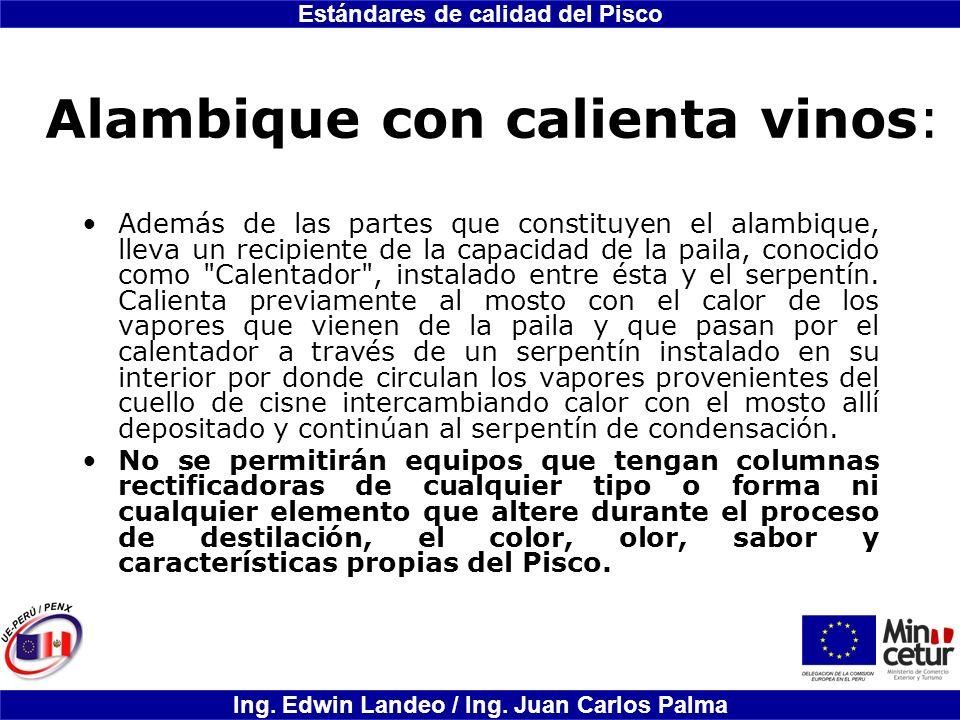 Alambique con calienta vinos: