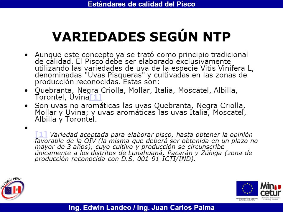 VARIEDADES SEGÚN NTP