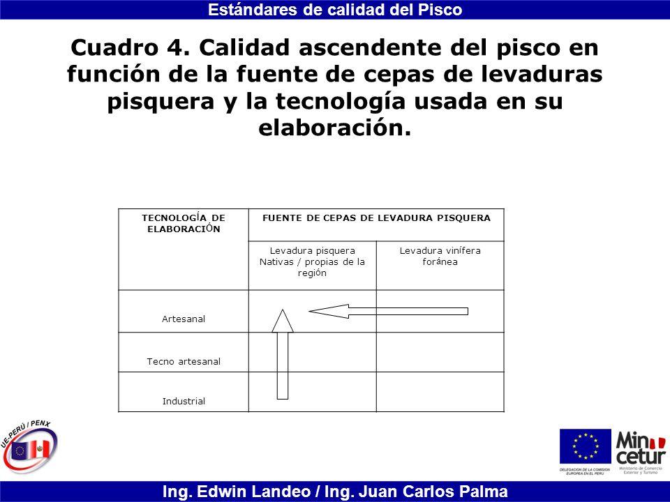 TECNOLOGÍA DE ELABORACIÓN FUENTE DE CEPAS DE LEVADURA PISQUERA