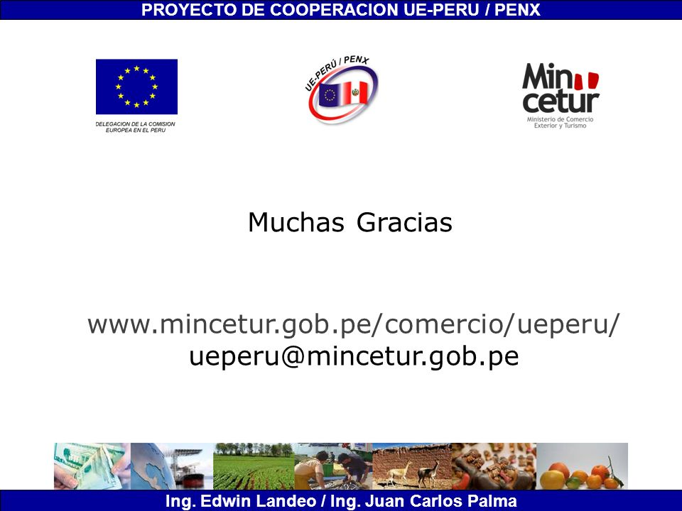Muchas Gracias www.mincetur.gob.pe/comercio/ueperu/
