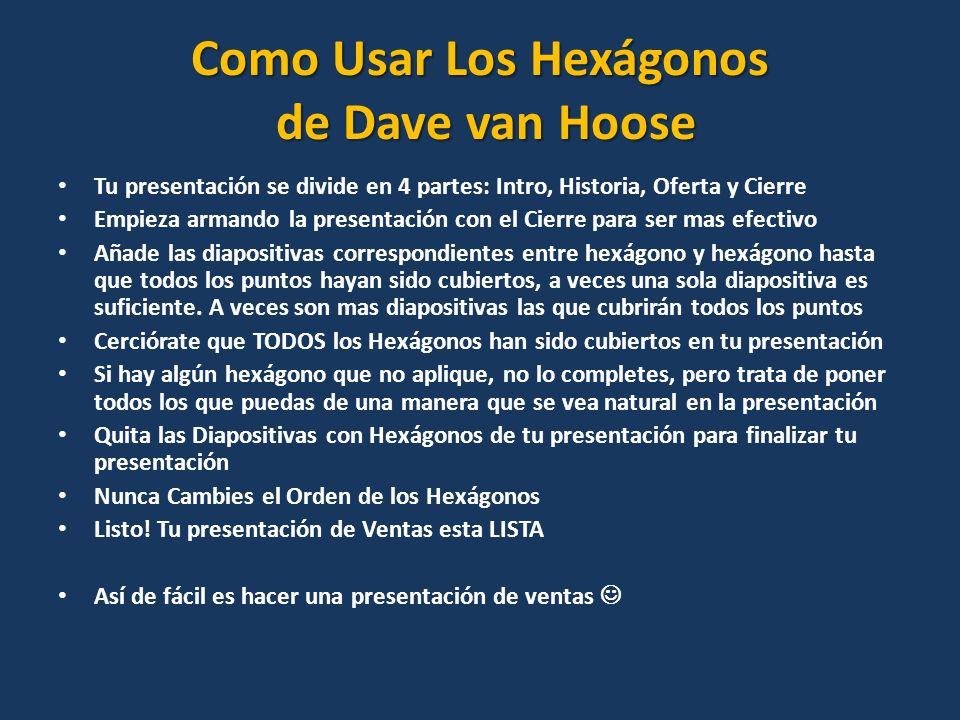Como Usar Los Hexágonos de Dave van Hoose