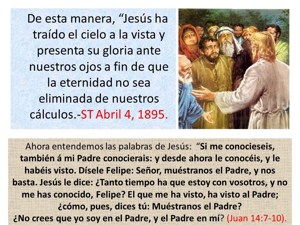 ¿No crees que yo soy en el Padre, y el Padre en mí (Juan 14:7-10).