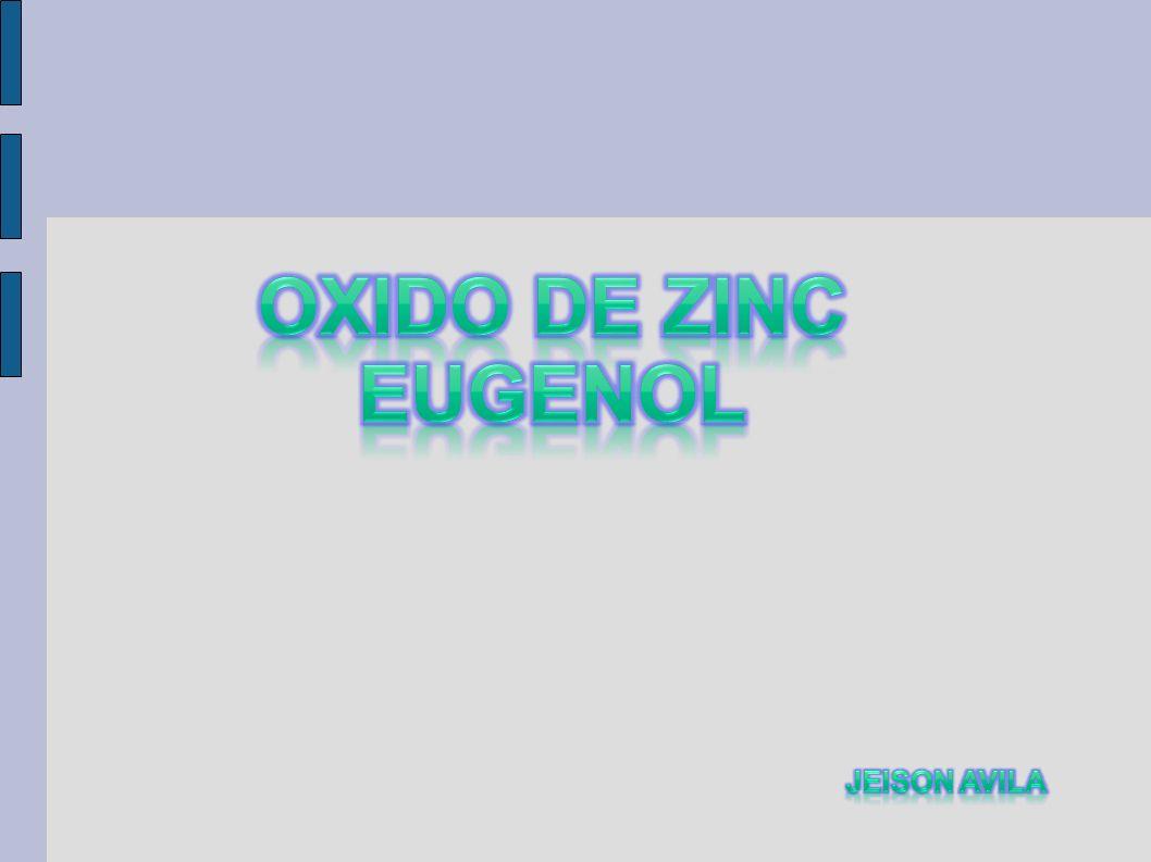 Oxido de zinc eugenol Jeison avila