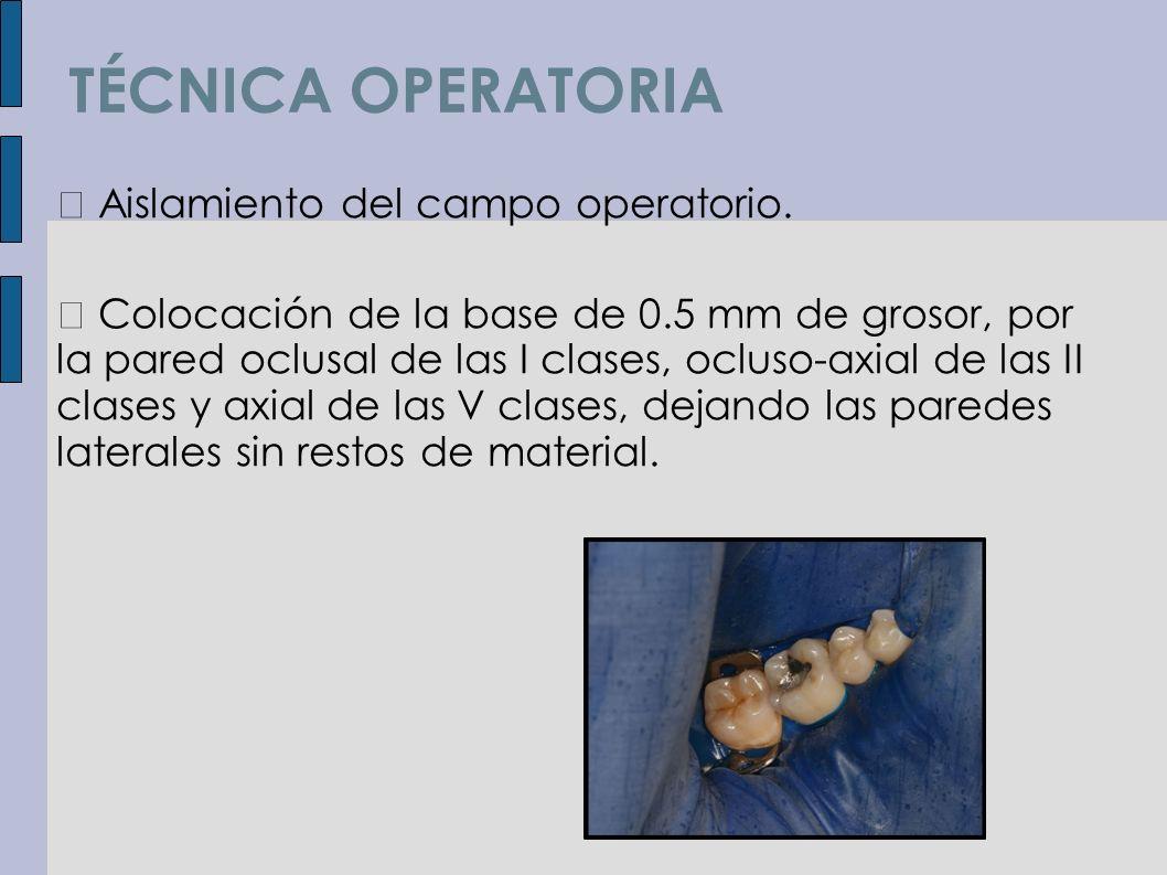 TÉCNICA OPERATORIA  Aislamiento del campo operatorio.