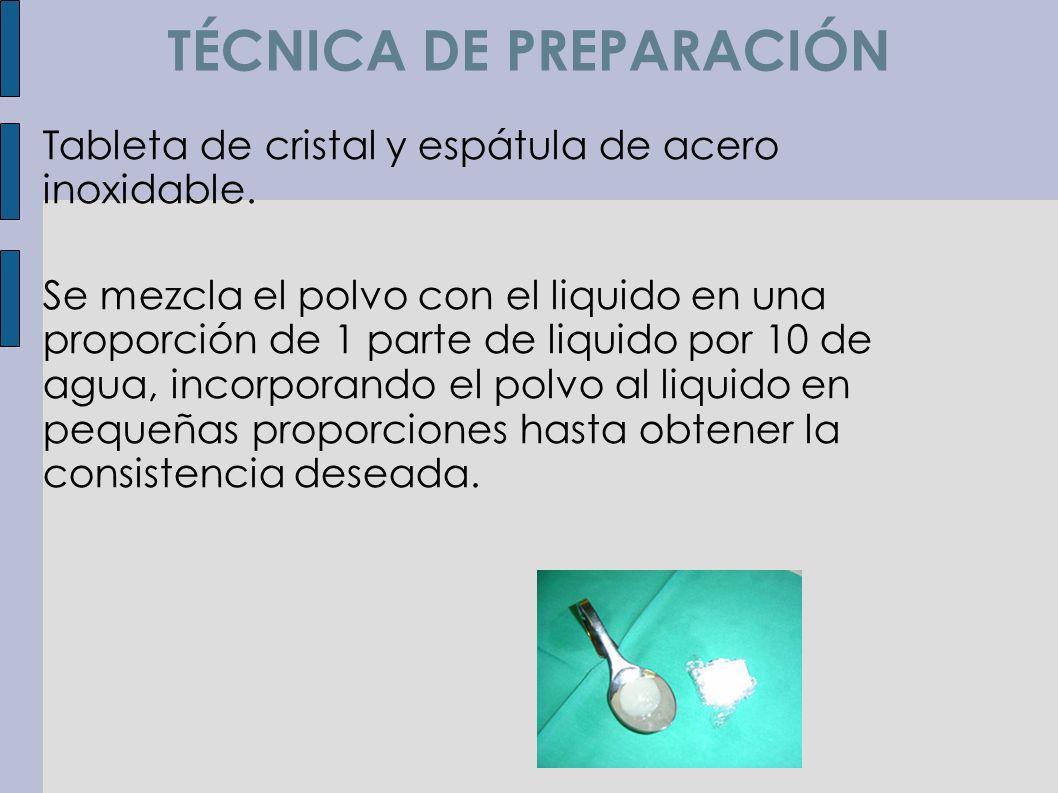TÉCNICA DE PREPARACIÓN