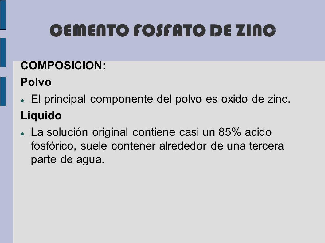 CEMENTO FOSFATO DE ZINC