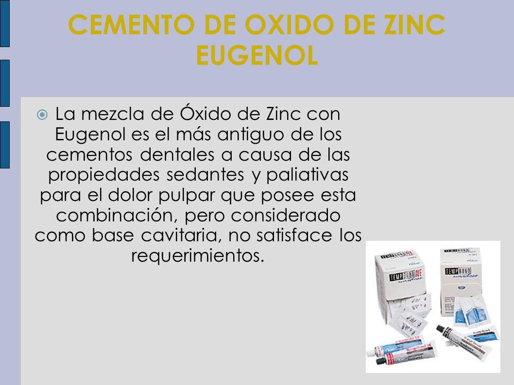 CEMENTO DE OXIDO DE ZINC EUGENOL