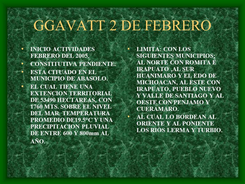 GGAVATT 2 DE FEBRERO INICIO ACTIVIDADES FEBRERO DEL 2005.