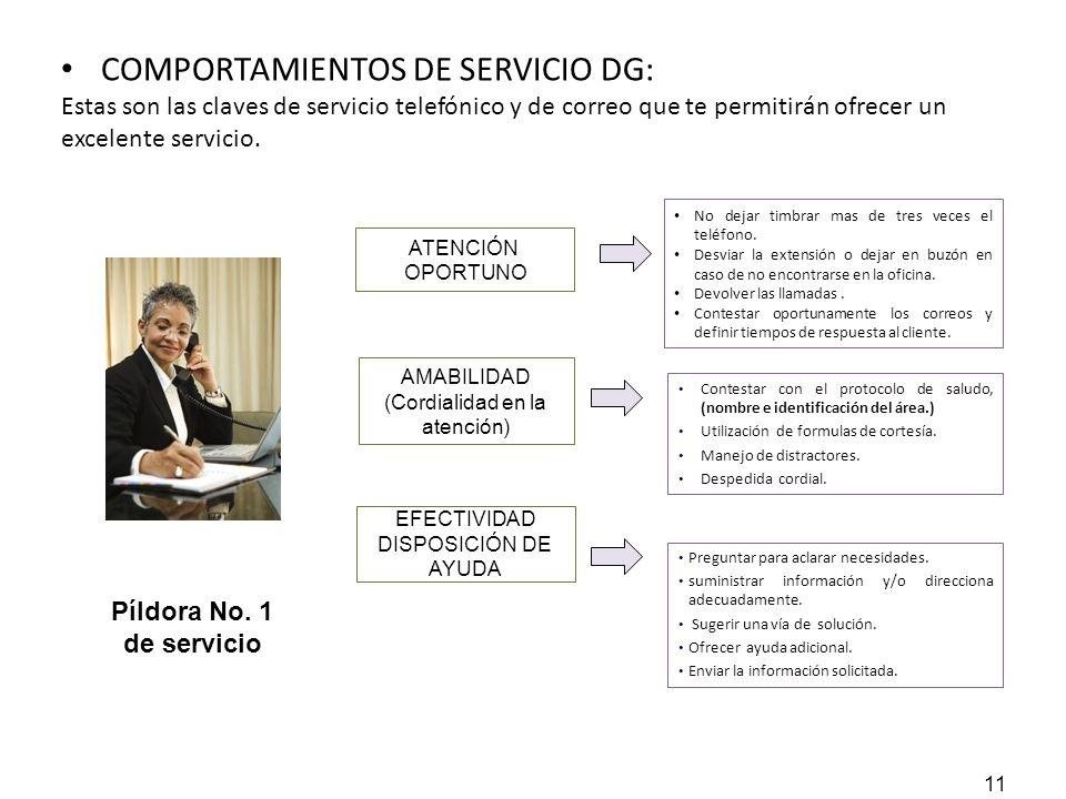 COMPORTAMIENTOS DE SERVICIO DG: