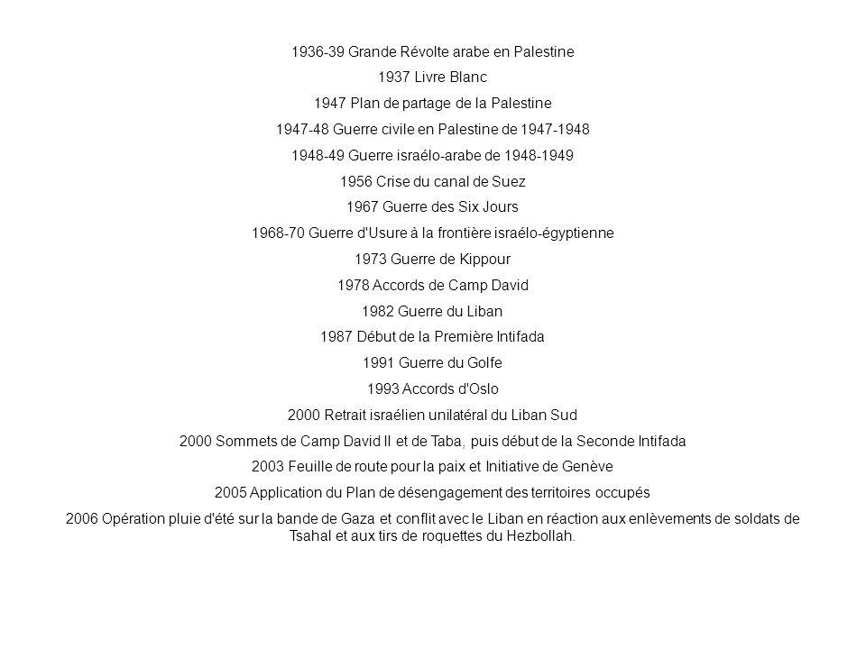 1936-39 Grande Révolte arabe en Palestine 1937 Livre Blanc