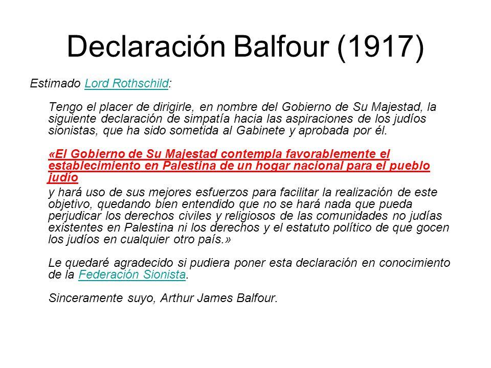 Declaración Balfour (1917)