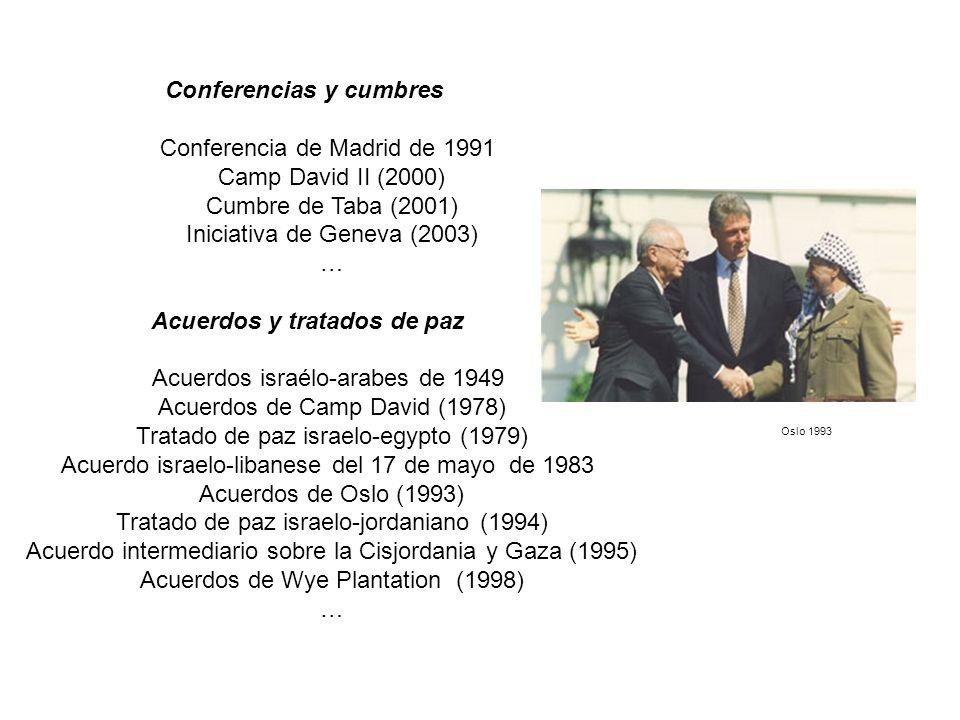 Conferencias y cumbres Acuerdos y tratados de paz