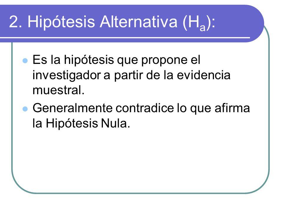 2. Hipótesis Alternativa (Ha):
