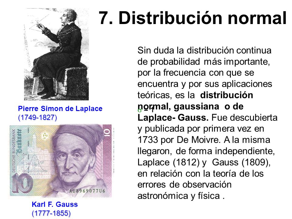 7. Distribución normal