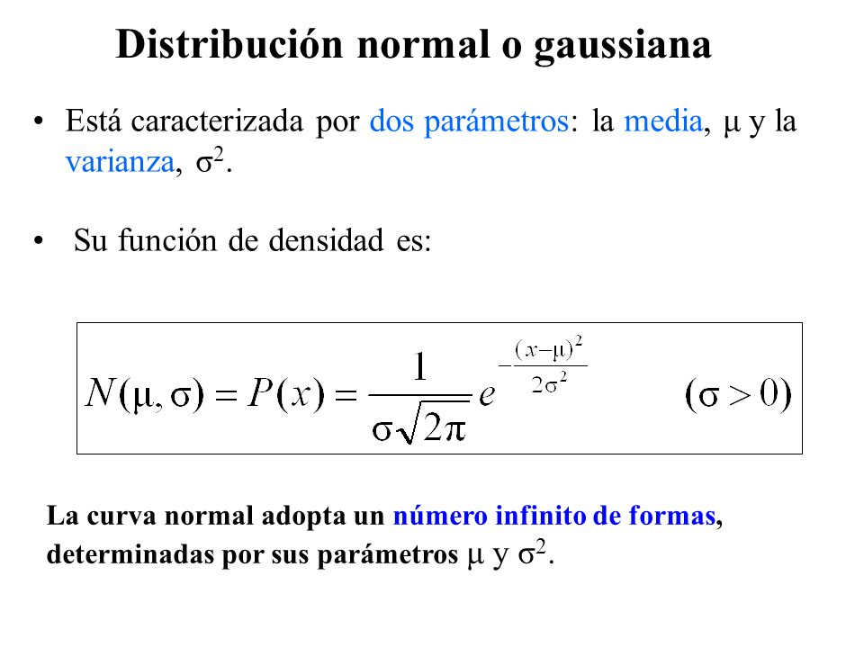 Distribución normal o gaussiana
