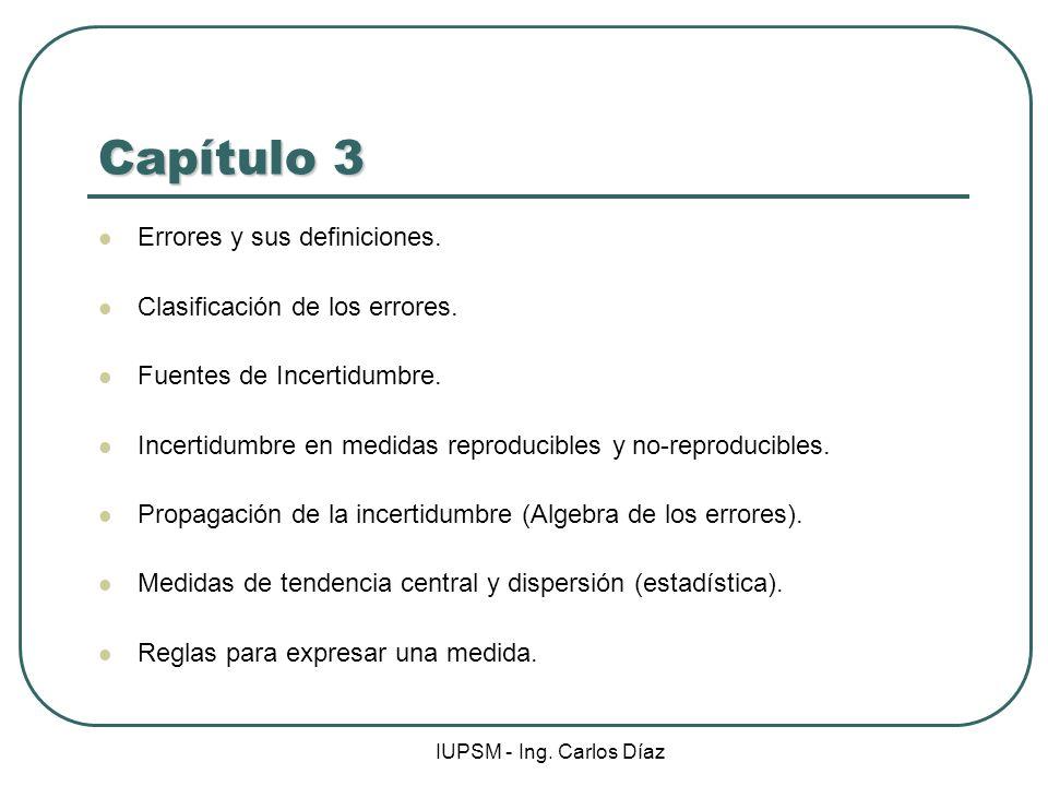 Capítulo 3 Errores y sus definiciones. Clasificación de los errores.