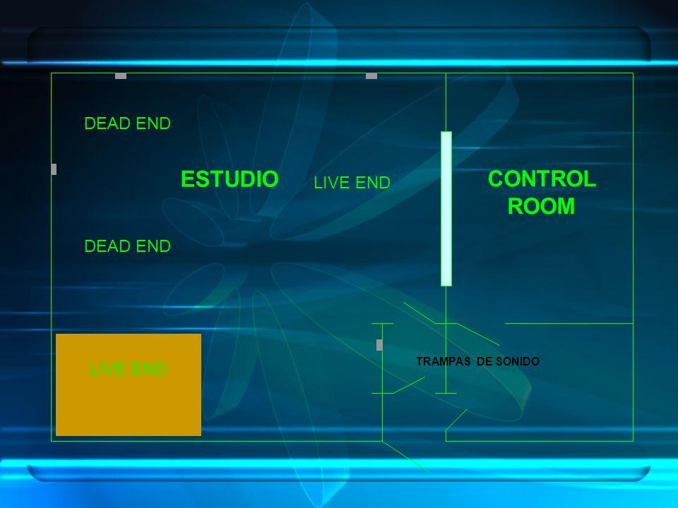 ESTUDIO CONTROL ROOM DEAD END LIVE END DEAD END LIVE END