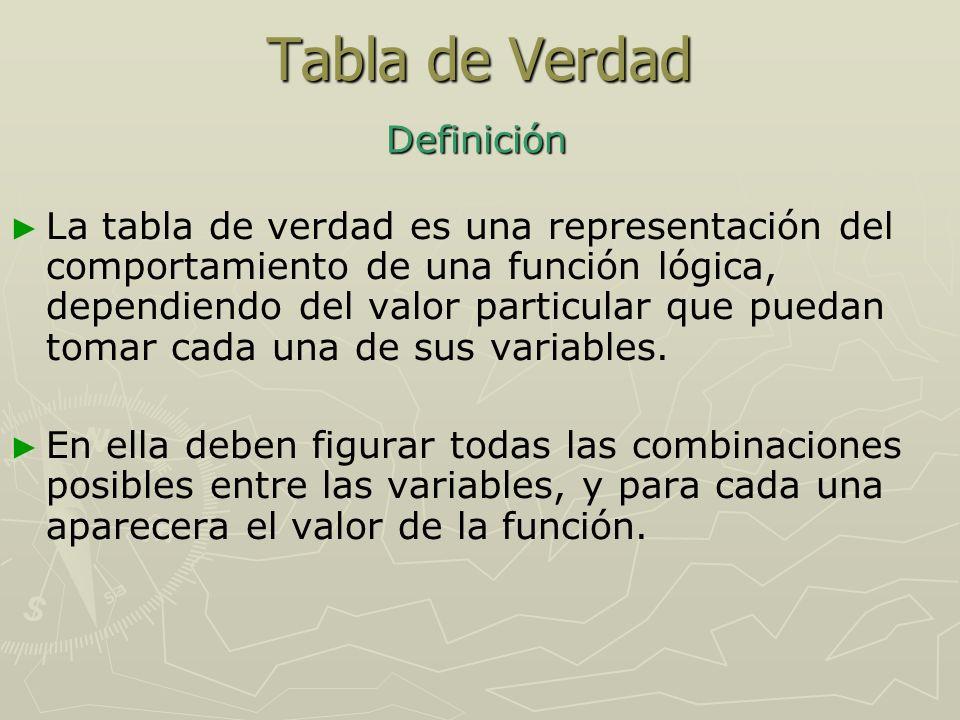 Tabla de Verdad Definición