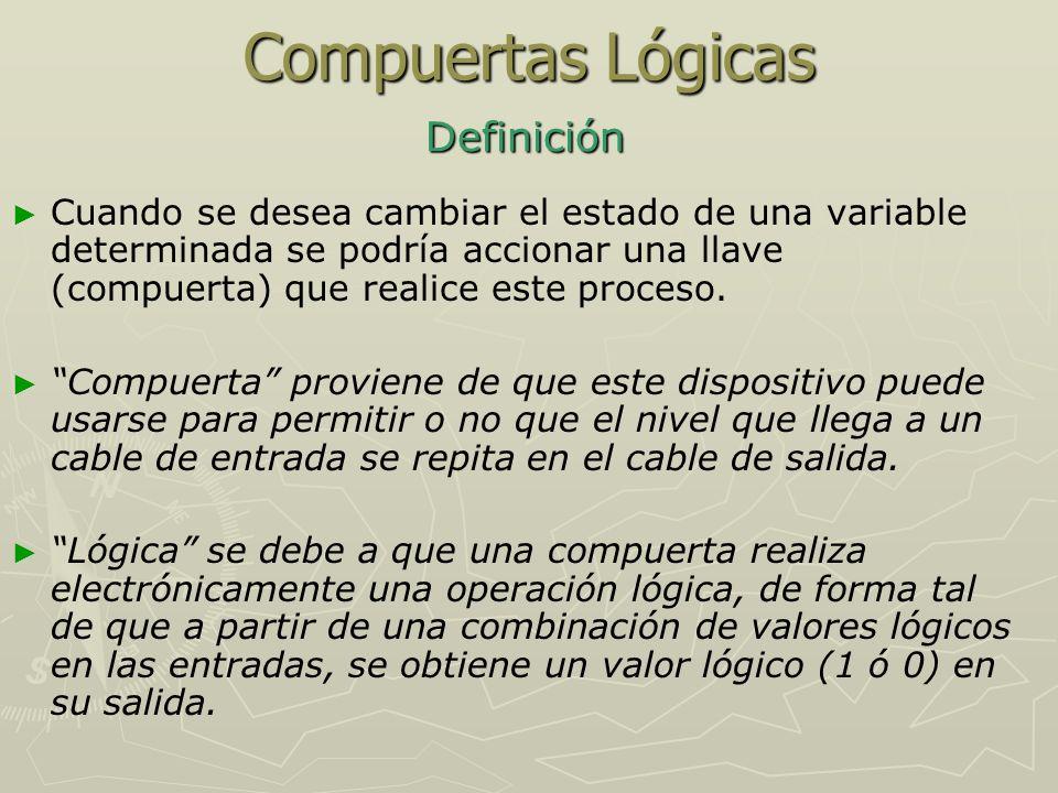Compuertas Lógicas Definición