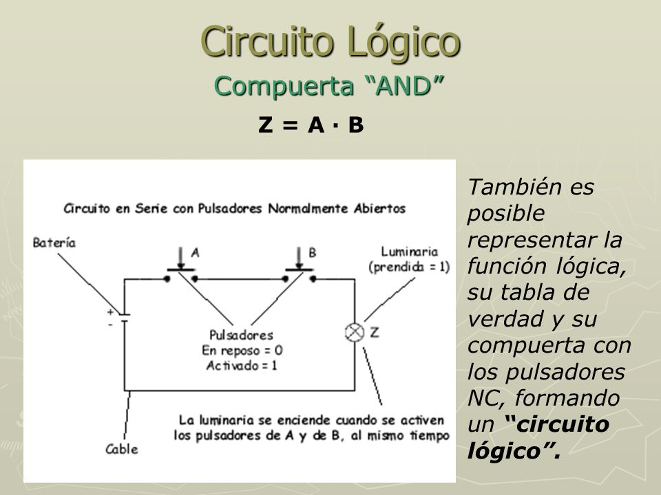 Circuito Lógico Compuerta AND