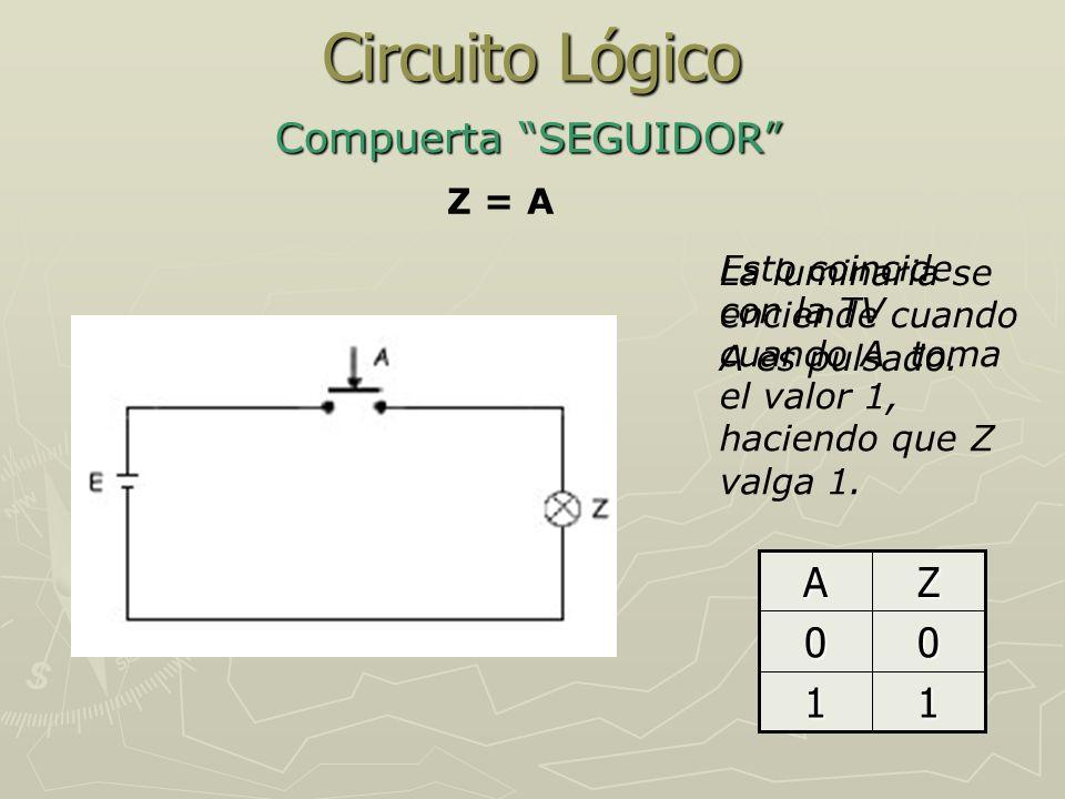 Circuito Lógico Compuerta SEGUIDOR 1 Z A