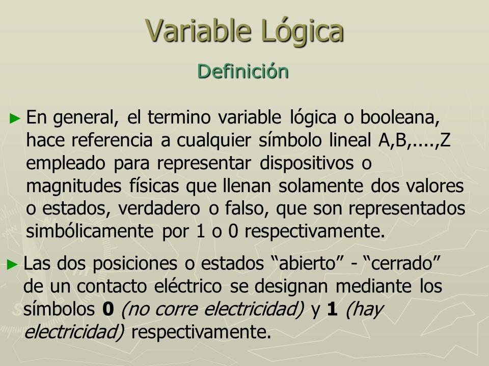 Variable Lógica Definición