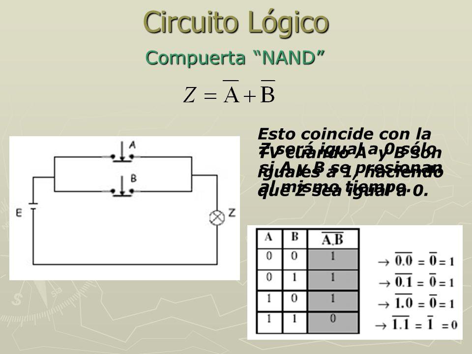 Circuito Lógico Compuerta NAND