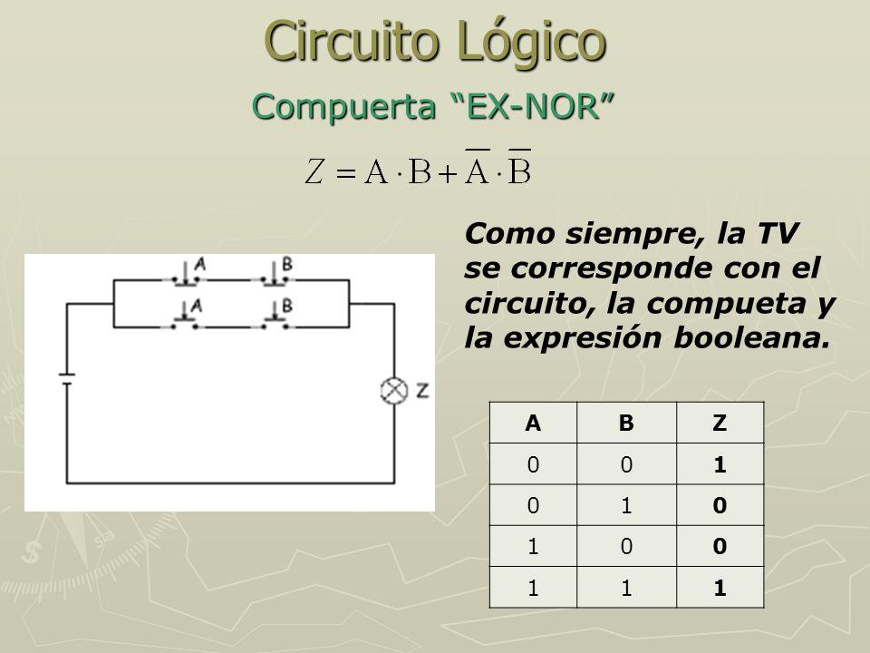 Circuito Lógico Compuerta EX-NOR