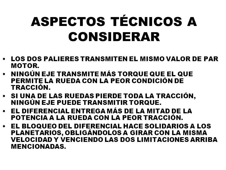 ASPECTOS TÉCNICOS A CONSIDERAR