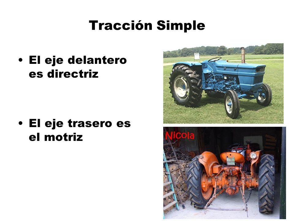 Tracción Simple El eje delantero es directriz