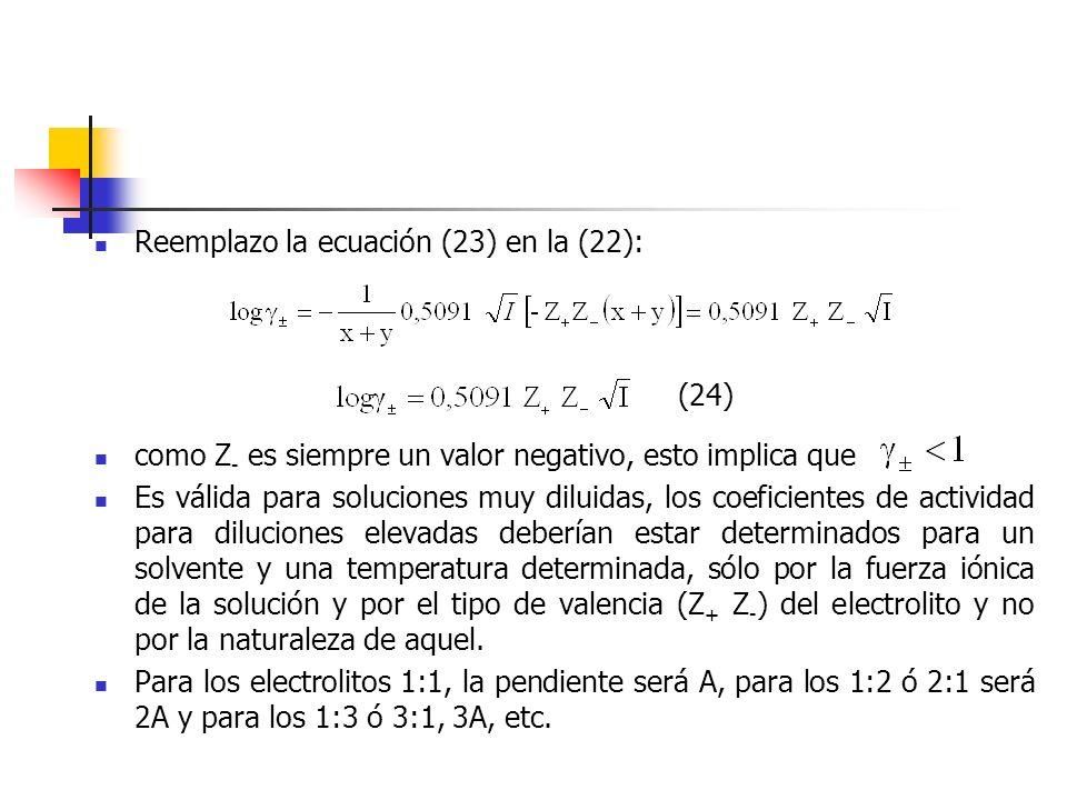 Reemplazo la ecuación (23) en la (22):