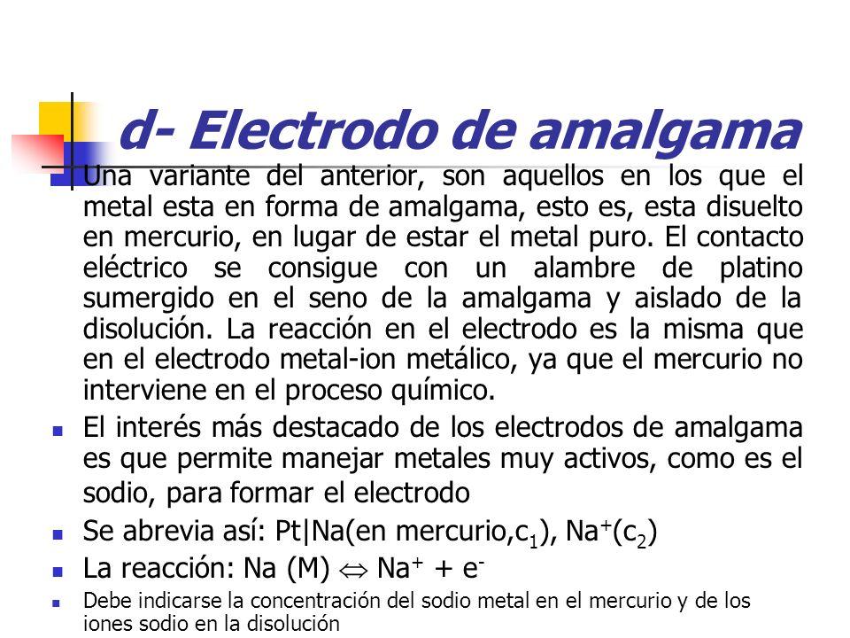 d- Electrodo de amalgama