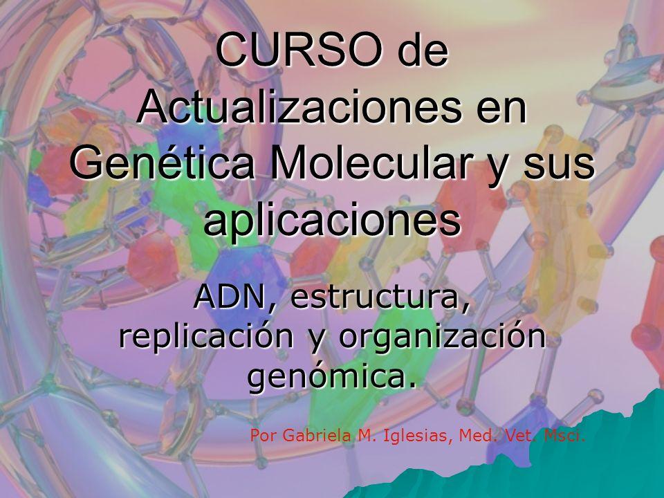CURSO de Actualizaciones en Genética Molecular y sus aplicaciones