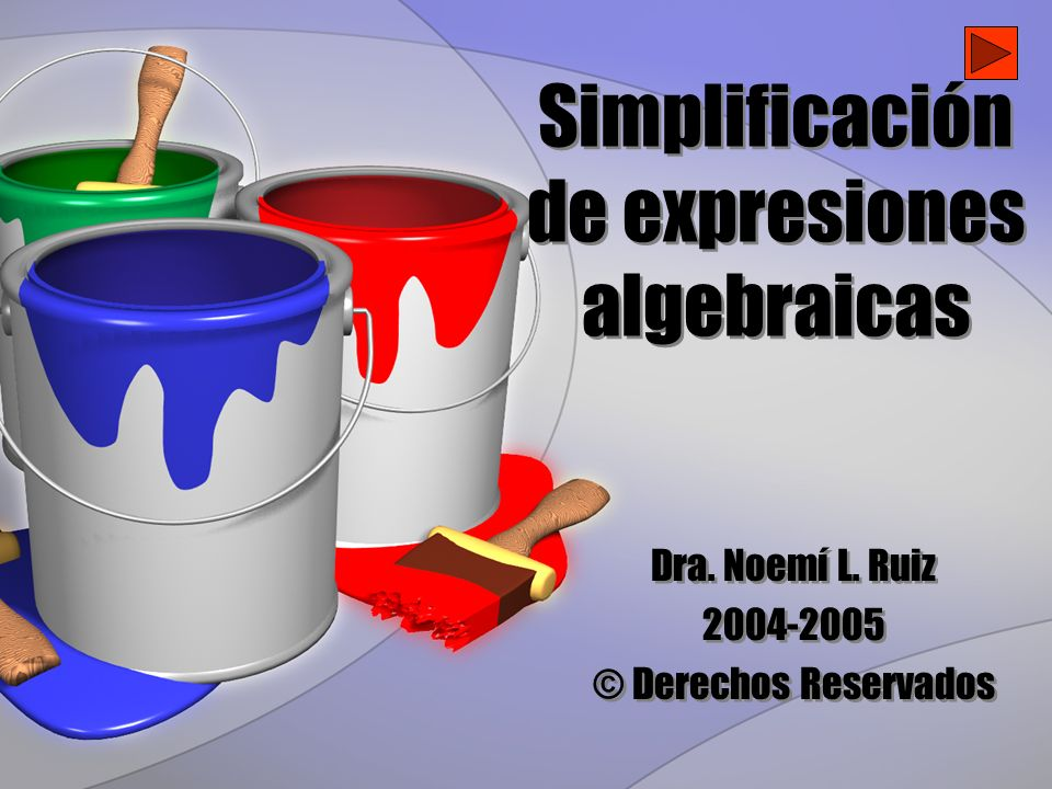 Simplificación de expresiones algebraicas