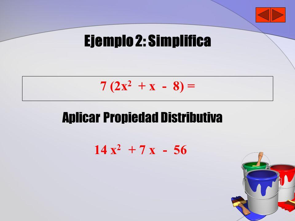 Aplicar Propiedad Distributiva