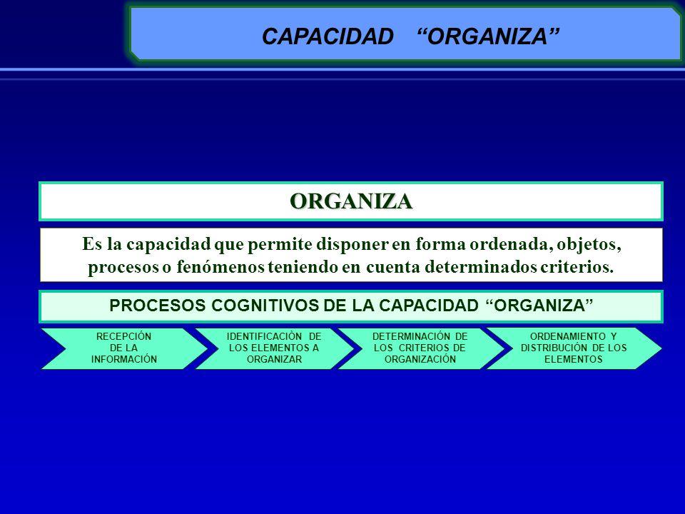 CAPACIDAD ORGANIZA ORGANIZA