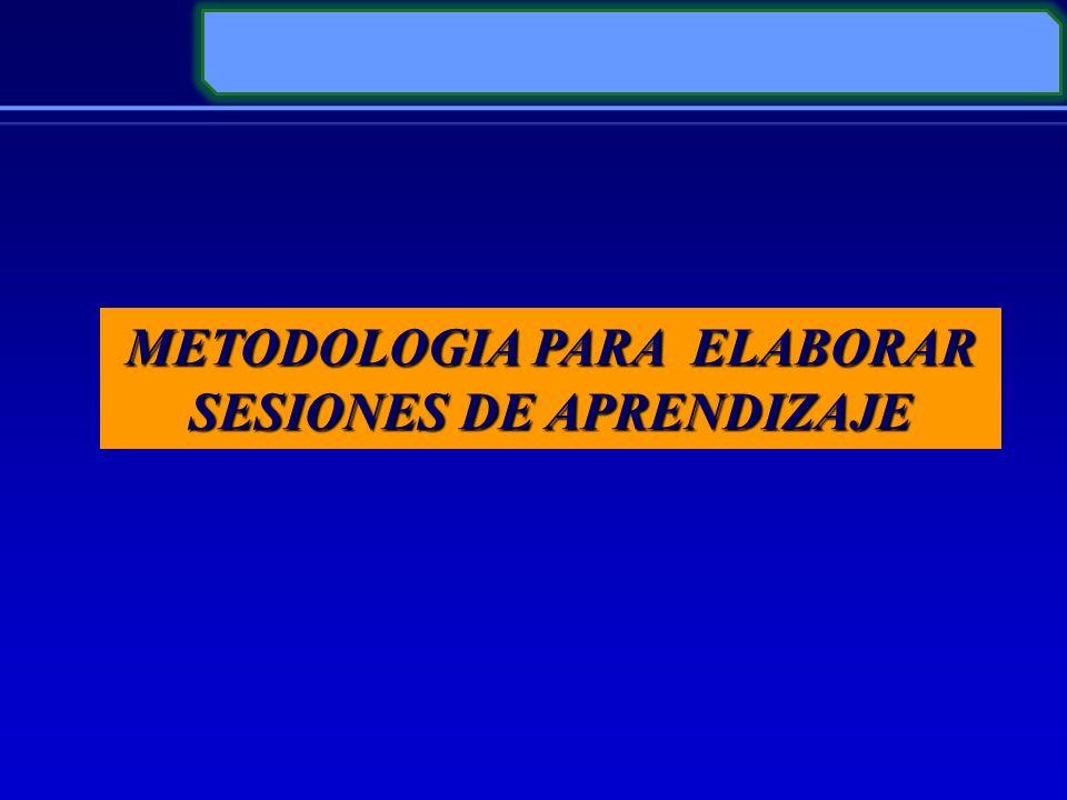 METODOLOGIA PARA ELABORAR SESIONES DE APRENDIZAJE