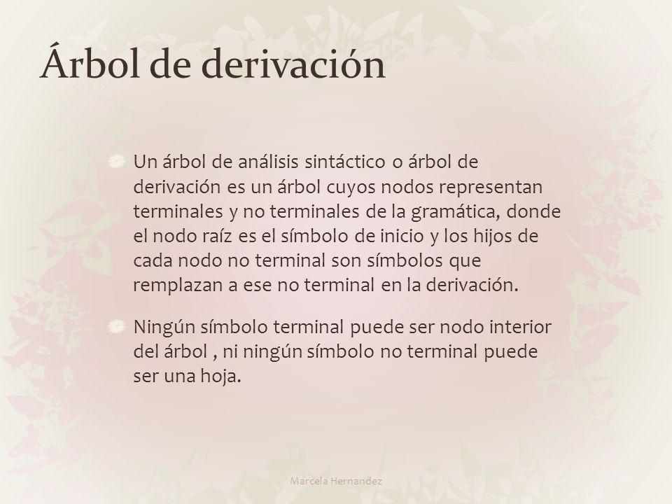 Árbol de derivación