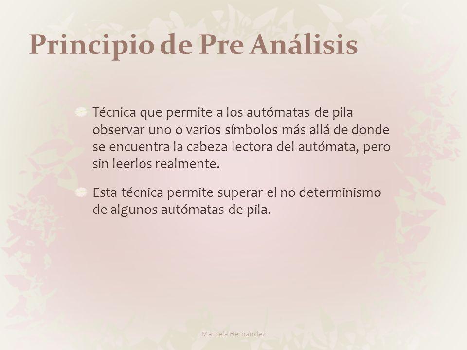 Principio de Pre Análisis