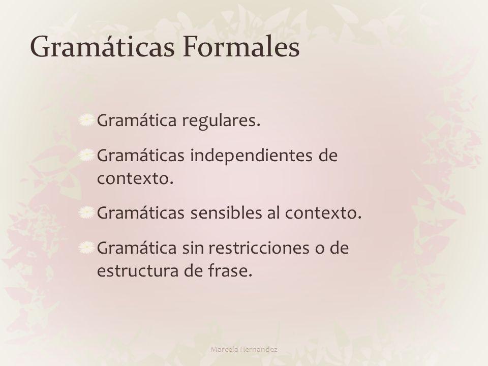 Gramáticas Formales Gramática regulares.