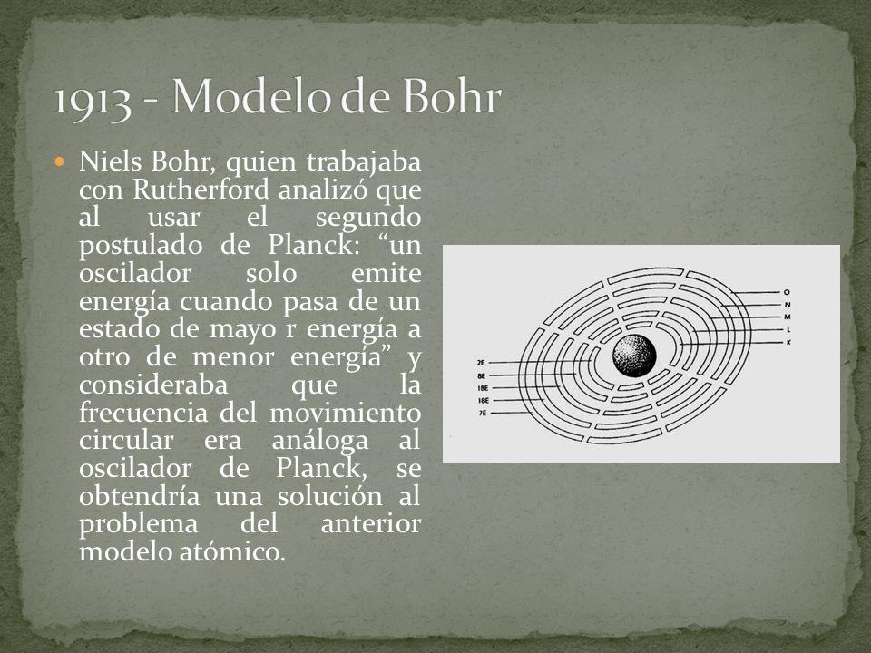 1913 - Modelo de Bohr