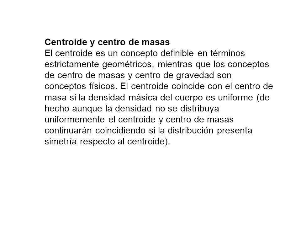 Centroide y centro de masas