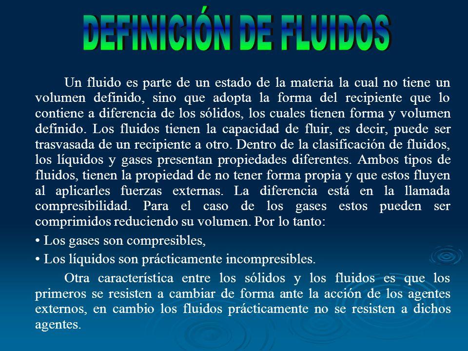 DEFINICIÓN DE FLUIDOS